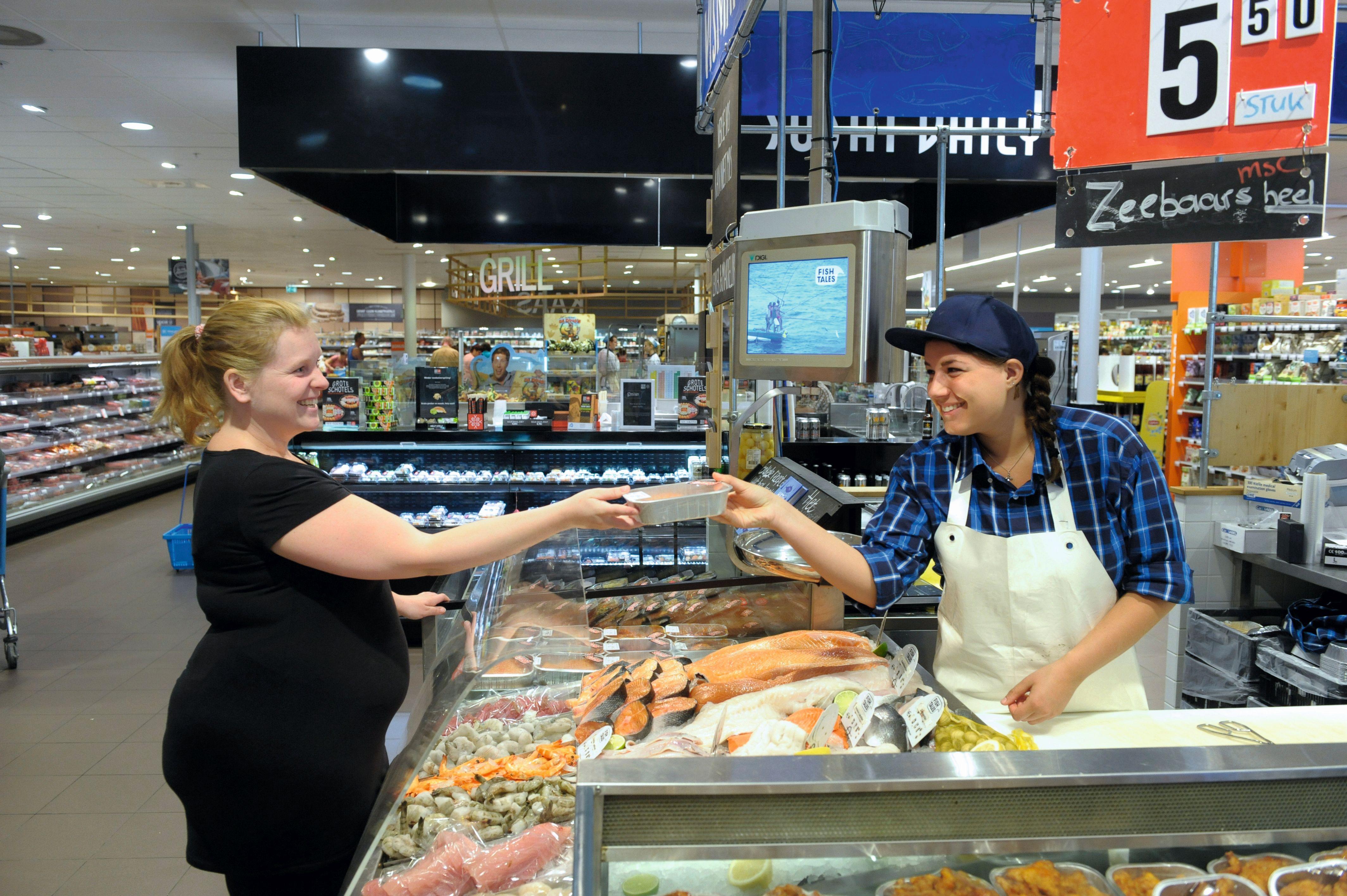 Fish Tales shop-in-shop bij Albert Heijn Soendaplein.